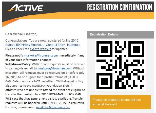 Muskoka Reg Confirmation