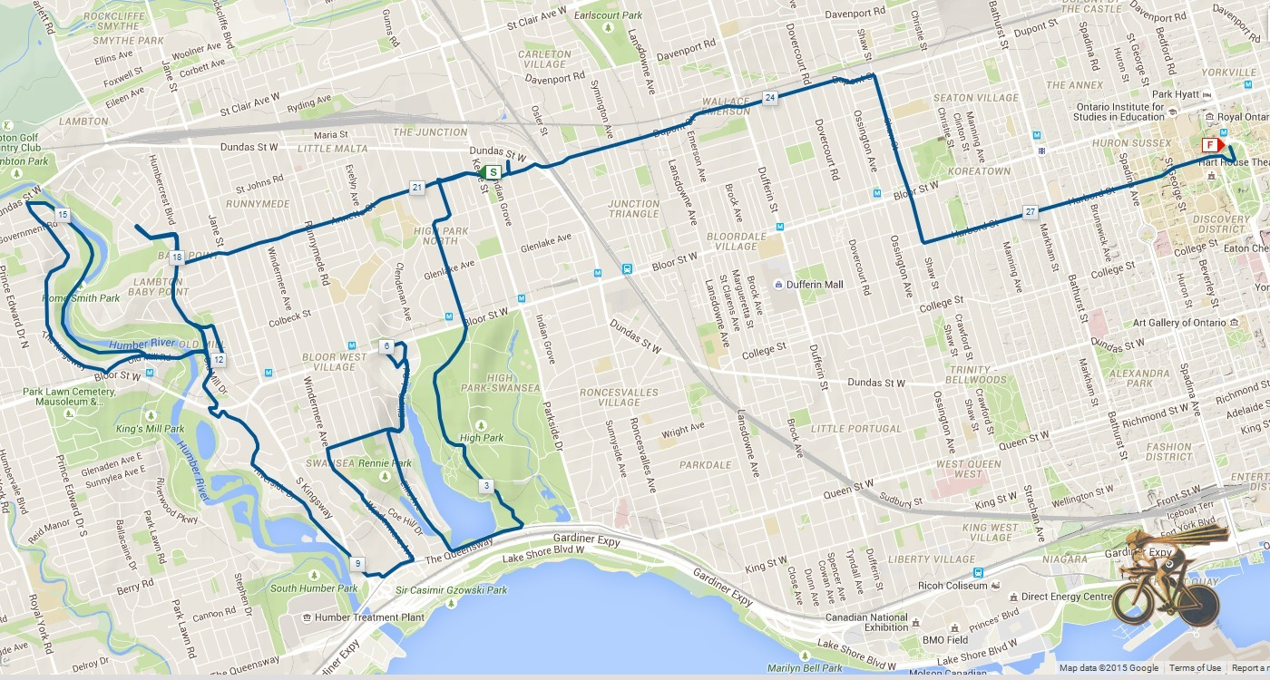 Thursday Bike Route
